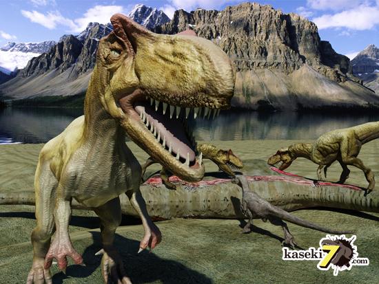 目の上のトサカに注目!アロサウルス