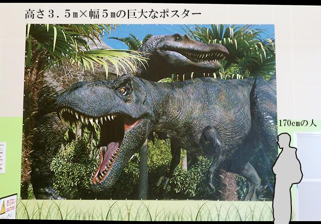 アイキャッチに最適!恐竜の巨大垂れ幕