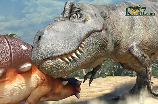 ティラノサウルスVSアンキロサウルス