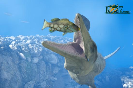 モササウルス捕食シーン