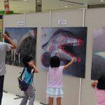 3Dポスター展示。触れるかな~